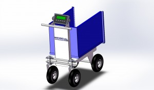 Mosdal Smart Cart is a scale cart to weigh feed, pig litters, or poultry